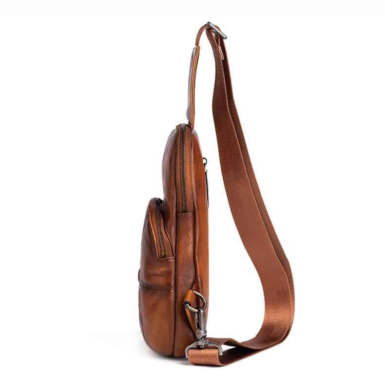 Túi sling bag da thật Gento 171
