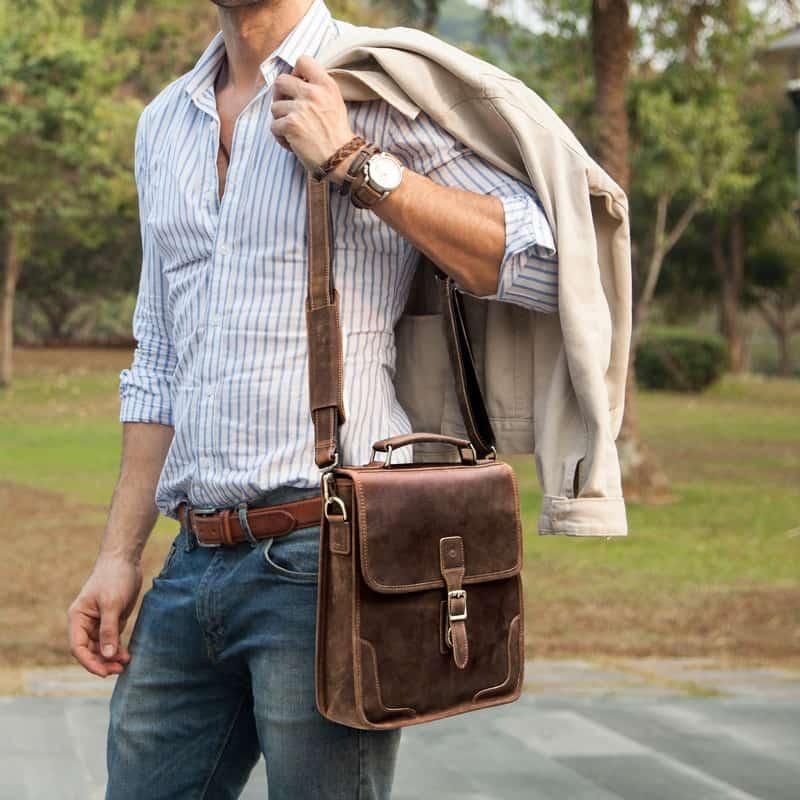 Túi đeo chéo da thật cao cấp Gento 180