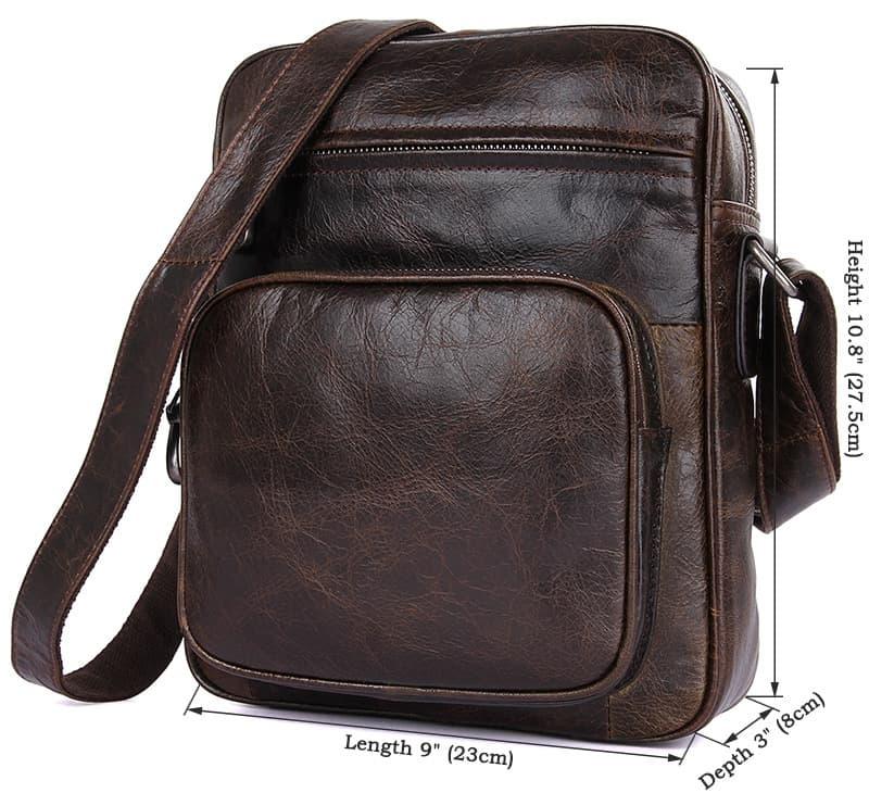Túi đeo chéo da thật cao cấp Gento 202