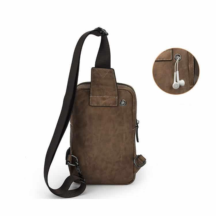 Túi da đeo chéo sling bag da bò G156