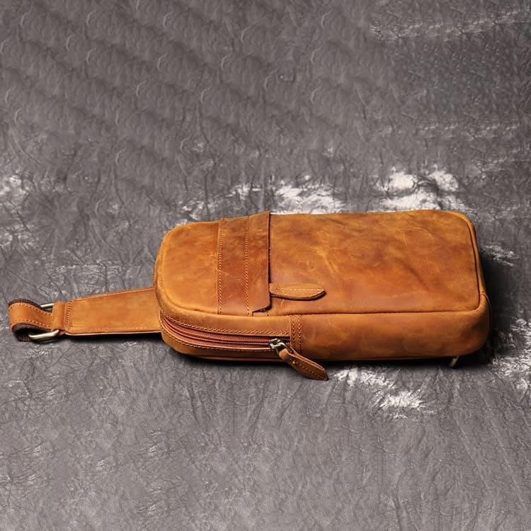 Túi đeo chéo trước ngực da thật Gento 158