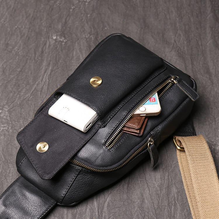 Túi đeo chéo trước ngực da thật G161