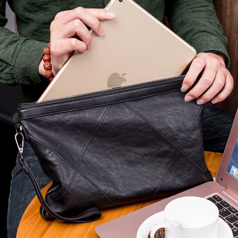 Túi cầm tay đựng iPad da thật Gento T735