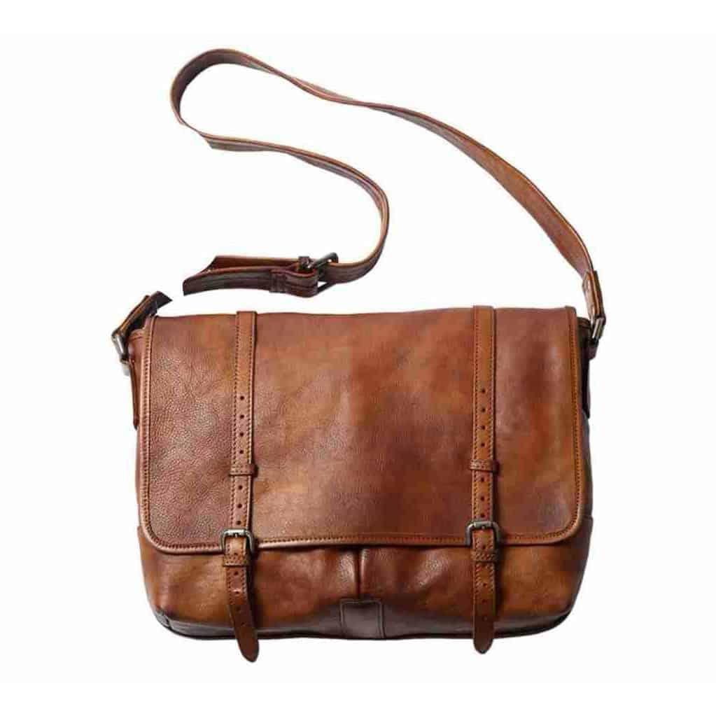 Túi đeo chéo da thật handmade Gento T604