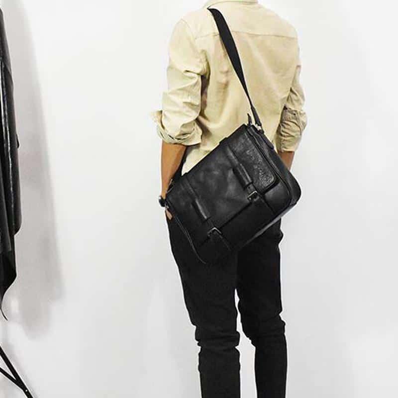 Túi đeo chéo da thật thủ công Gento T605